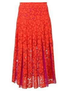 Diane von Furstenberg floral lace embroidered skirt