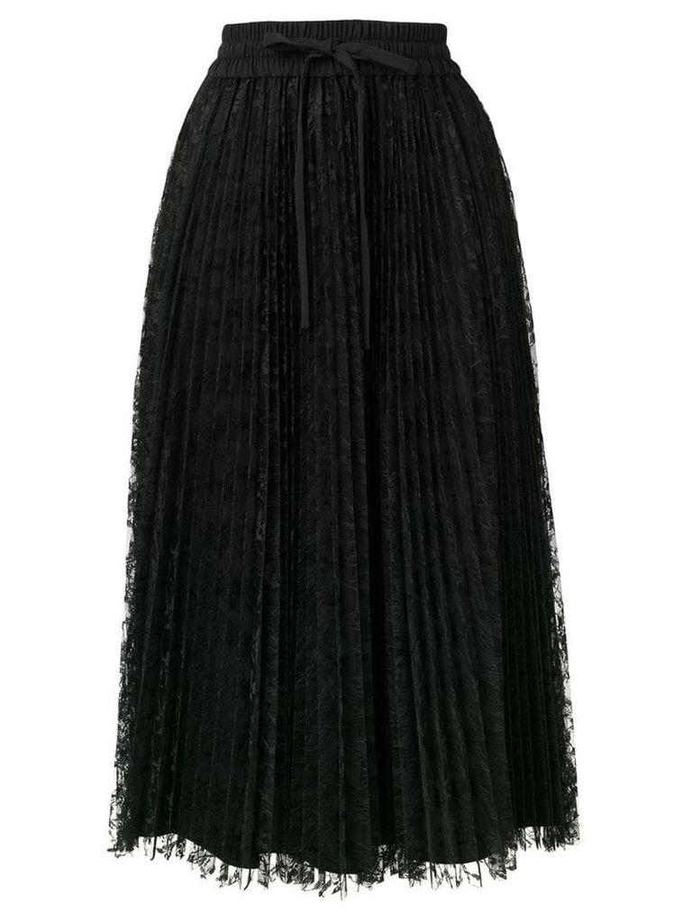 Red Valentino pleated skirt - Black