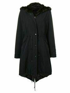 Liska hooded fur parka - Black