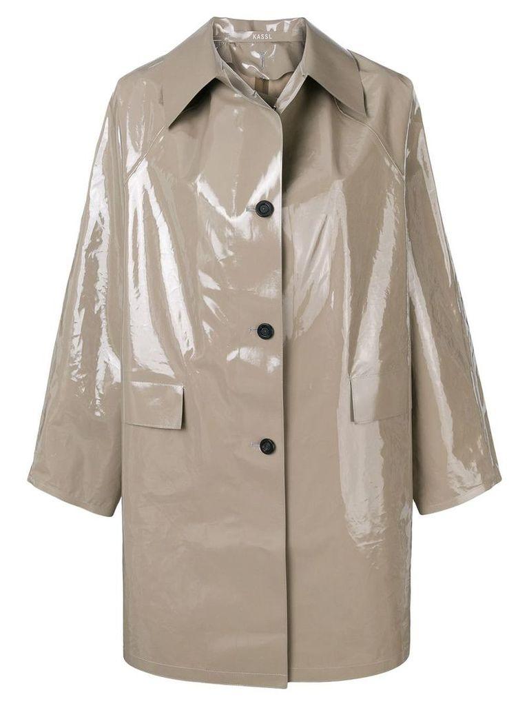 Kassl Lacquer raincoat - Grey
