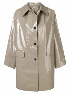 Kassl Editions Lacquer raincoat - Grey