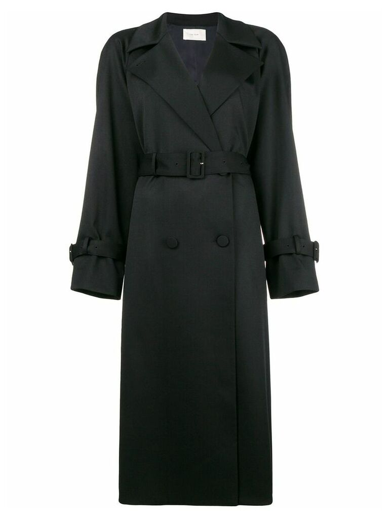 The Row double breasted trench coat - Black