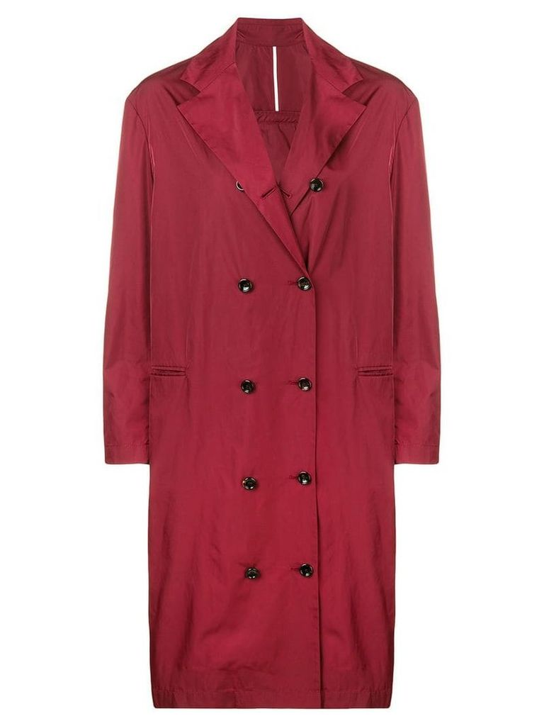 Joseph double breasted trench coat - Red