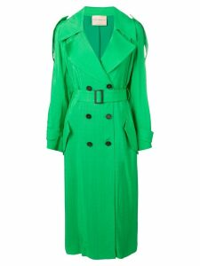 Erika Cavallini belted trench coat - Green