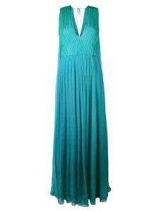 Alberta Ferretti sleeveless gathered dress - Blue