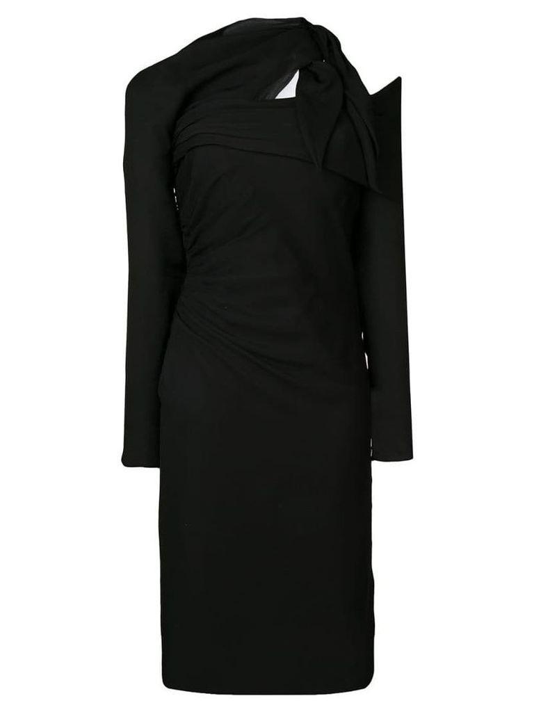 Versace Asymmetric crêpe dress - Black