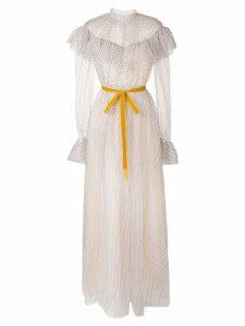 Erdem long polka dot dress - Neutrals