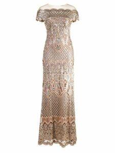Tadashi Shoji sequin embellished gown - Metallic