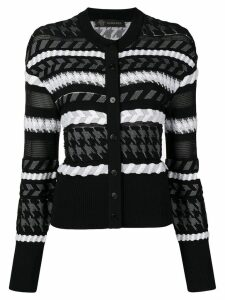 Versace knitted buttoned cardigan - Black