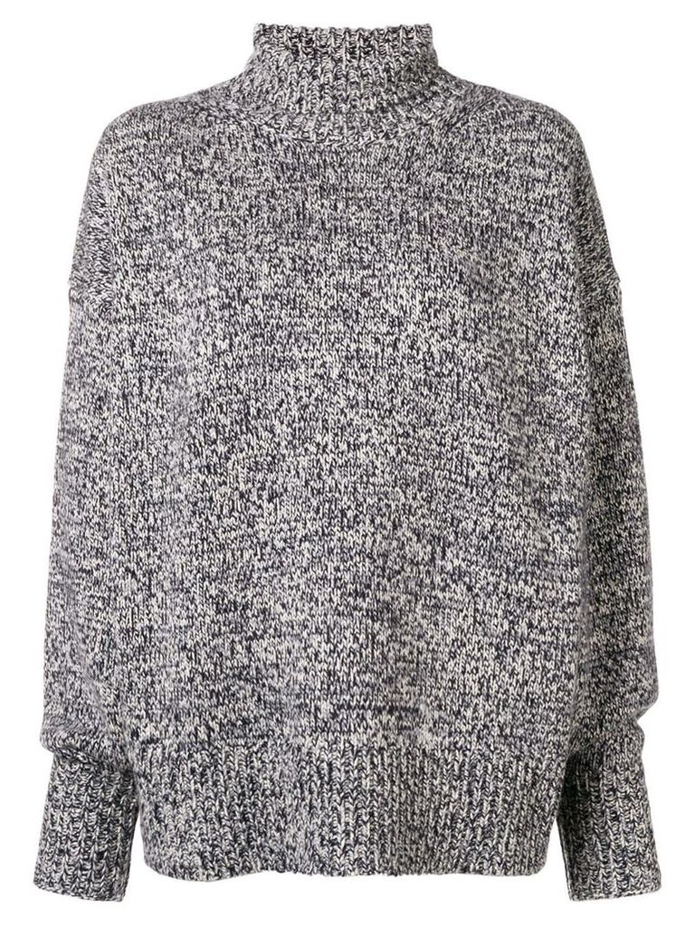 The Row cashmere roll neck jumper - Grey