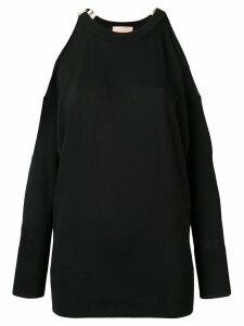 Erika Cavallini Dolores cut-out shoulder sweater - Black