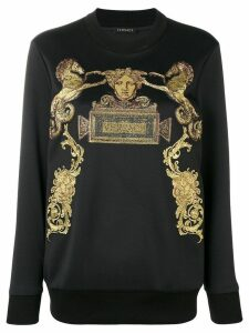 Versace jacquard knit logo sweatshirt - Black