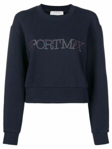 Sportmax logo sweatshirt - Blue