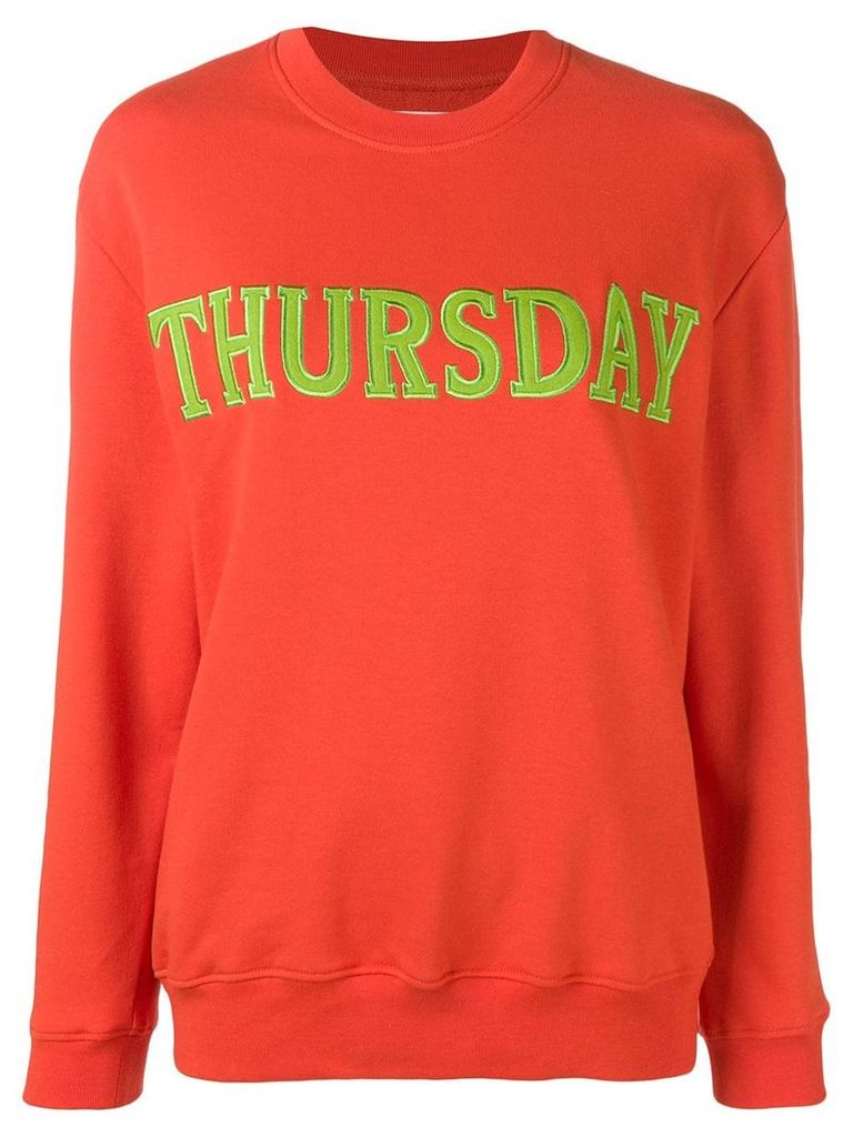 Alberta Ferretti Thursday jersey sweatshirt - Orange