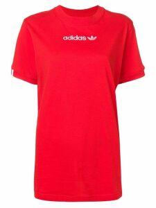 Adidas contrast logo T-shirt - Red