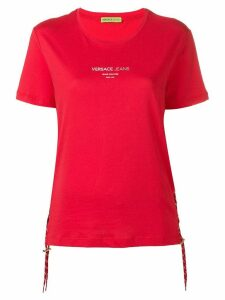 Versace Jeans lace-up T-shirt - Red