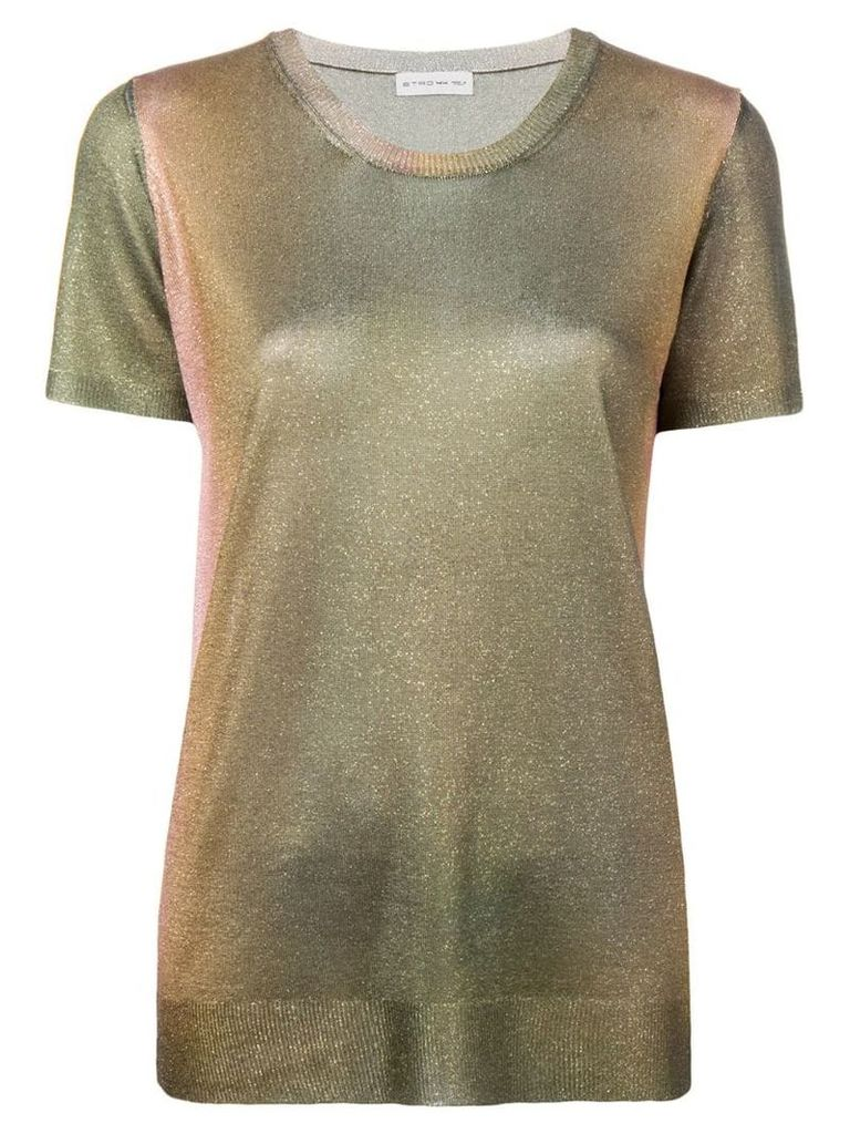 Etro lurex effect T-shirt - Green