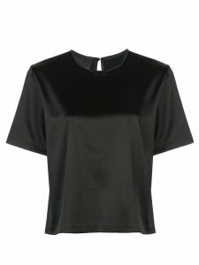 Cynthia Rowley rush stretch satin T-Shirt - Black
