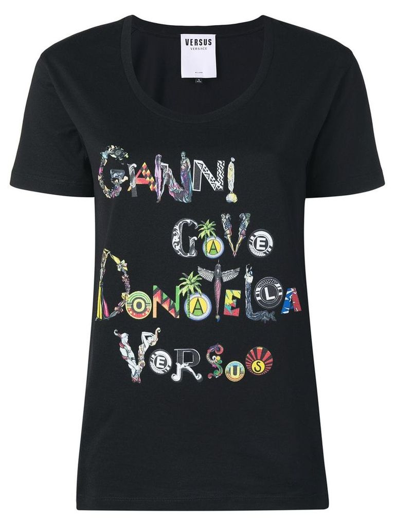 Versus printed T-shirt - Black