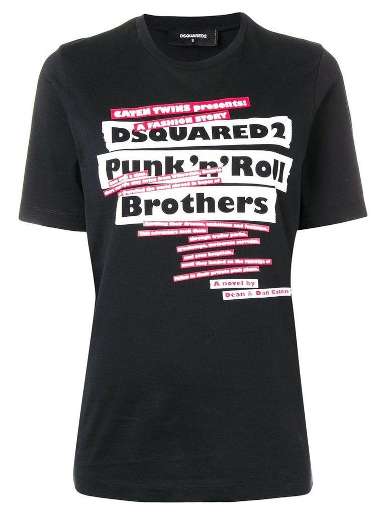Dsquared2 printed logo T-shirt - Black