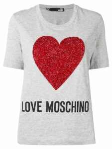 Love Moschino heart-print T-shirt - Grey