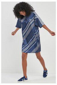 Womens adidas Originals Dark Blue Trefoil Dress -  Blue