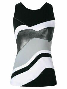 No Ka' Oi striped tank top - Black