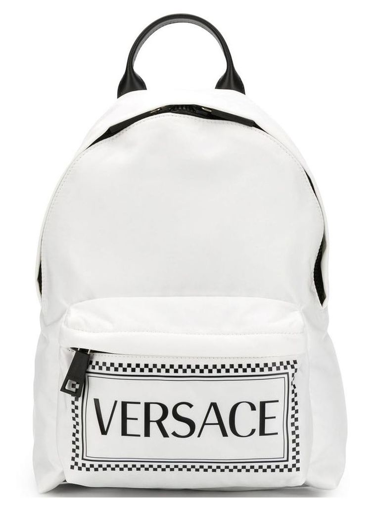 Versace printed classic backpack - White