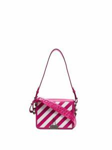 Off-White striped shoulder bag - Pink