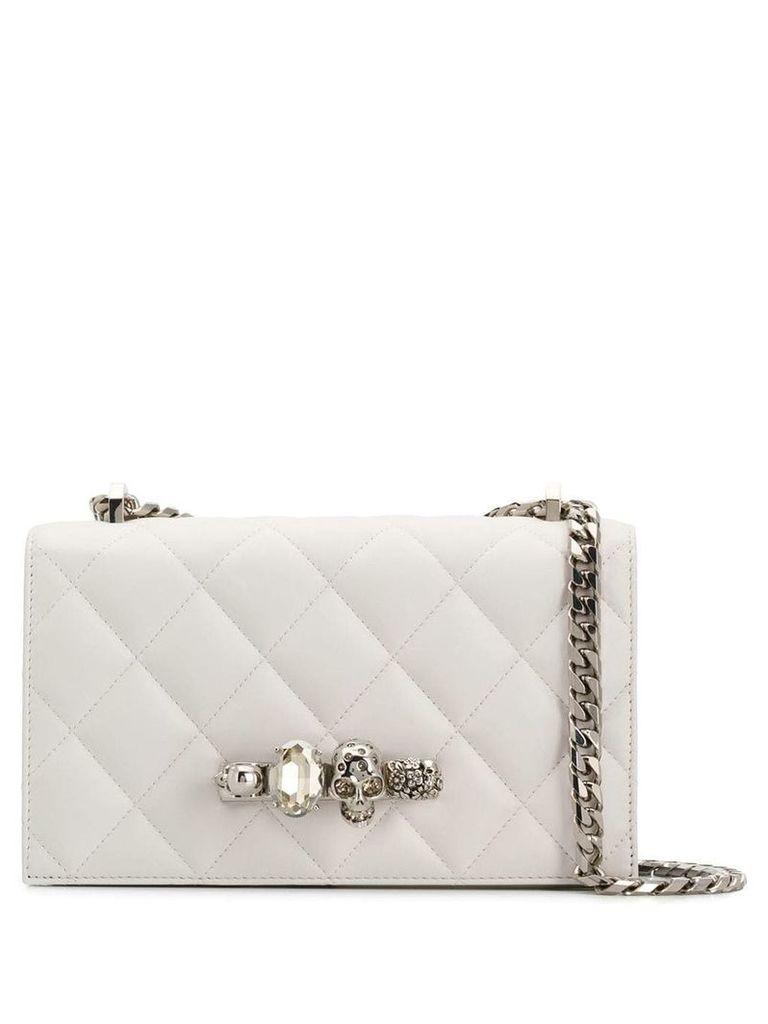 Alexander McQueen jewelled shoulder bag - Neutrals