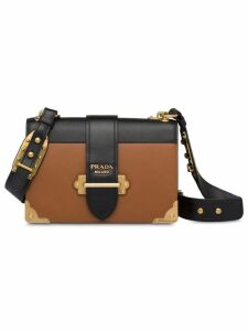 Prada Cahier large leather bag - Brown