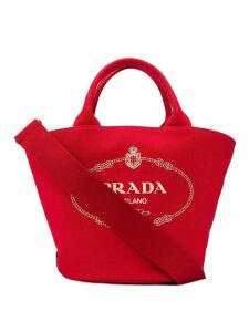 Prada vintage logo shopper bag - Red