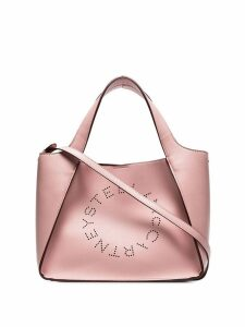 Stella McCartney pink logo tote bag