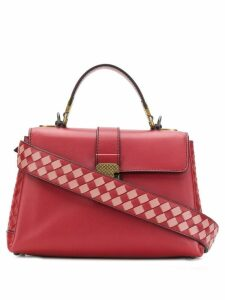 Bottega Veneta intrecciato-panelled tote - Red