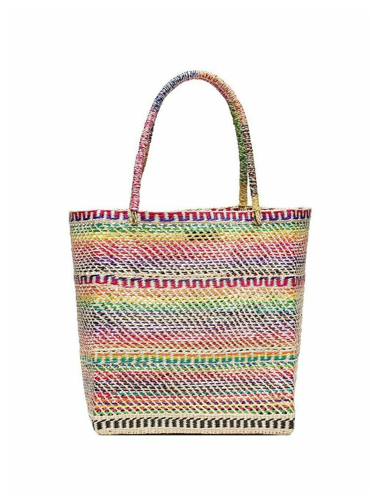 Sensi Studio multicoloured straw tote bag