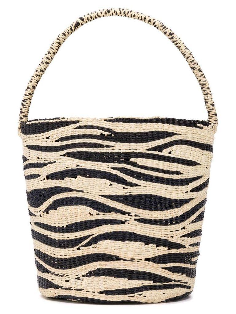 Sensi Studio zebra bucket bag - Black