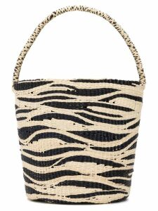 Sensi Studio zebra bucket bag - Black