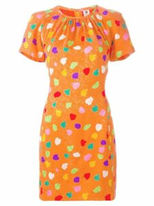 Emanuel Ungaro Pre-Owned dot print jacquard dress - Yellow