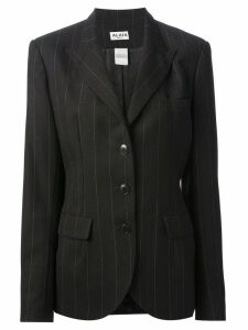 Alaïa Pre-Owned pinstriped blazer - Black