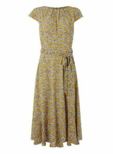 Womens **Billie & Blossom Tall Floral Print Midi Dress- Multi Colour, Multi Colour