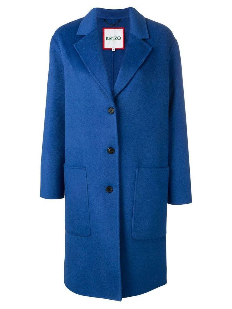 Kenzo single breasted overcoat - Blue