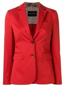 Etro poplin blazer - Red