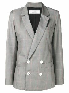 Société Anonyme checked double breasted blazer - Grey