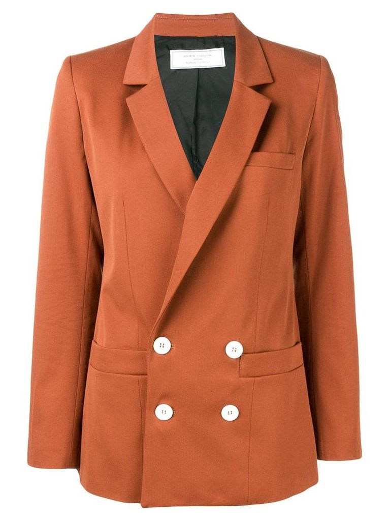 Société Anonyme double breasted blazer - Orange