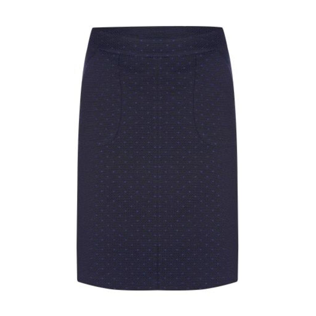 Textured Dot ALine Skirt