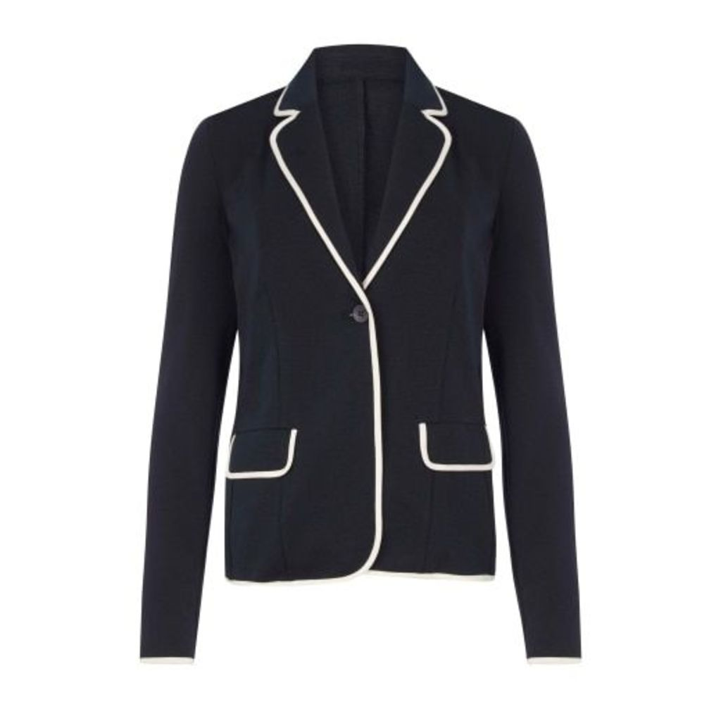 Navy Tipped Blazer