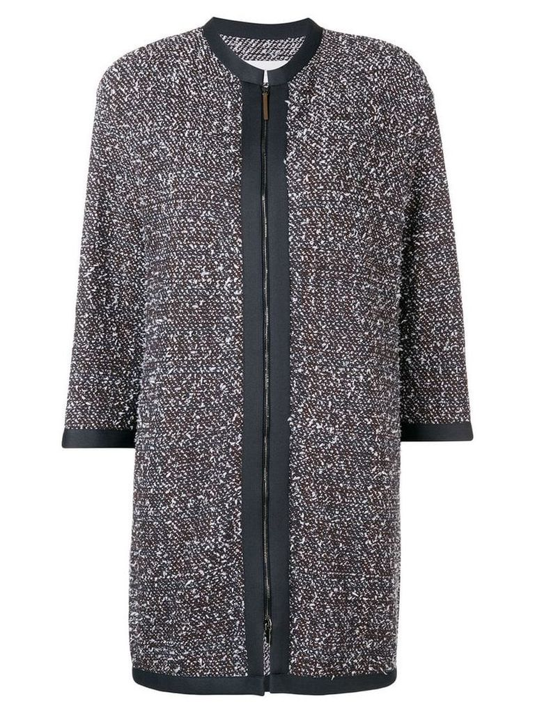 Fabiana Filippi mid-length tweed jacket - Green