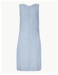 M&S Collection PETITE Linen Rich Shift Dress