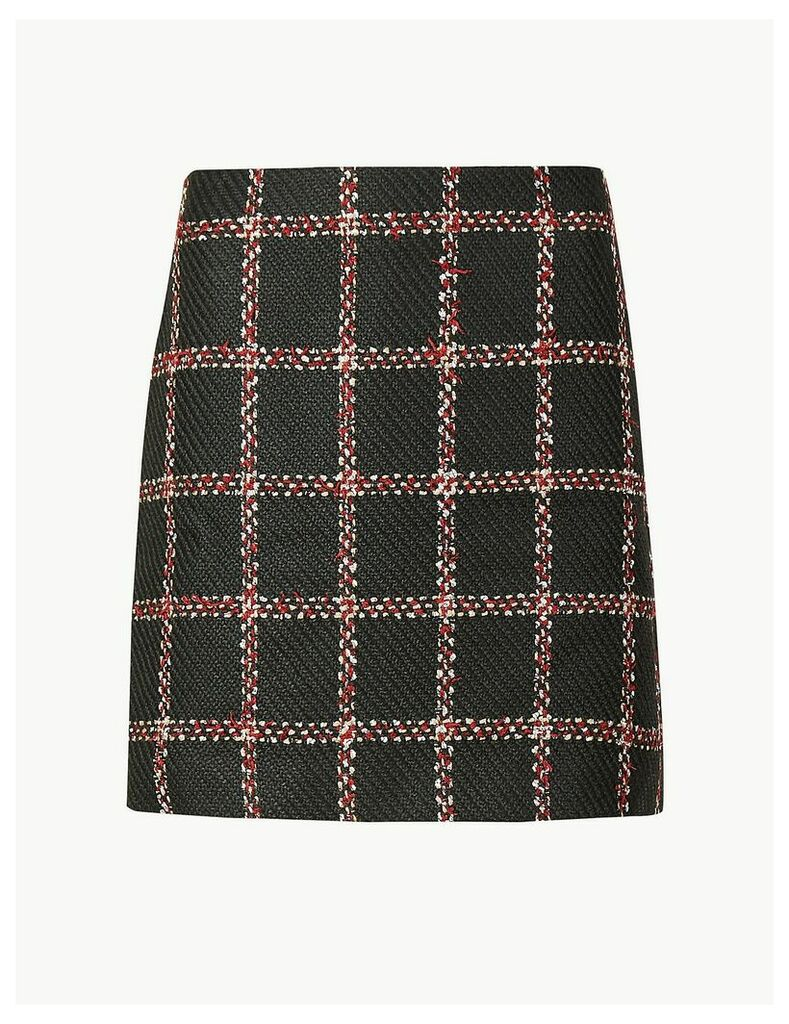 M&S Collection Checked Pencil Mini Skirt