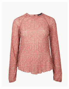 M&S Collection Floral Print Sheer Relaxed Fit Blouse